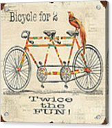 Bicycle For 2 Acrylic Print