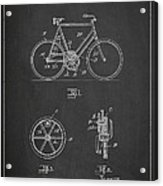 Bicycle Gear Patent Drawing From 1922 - Dark Acrylic Print