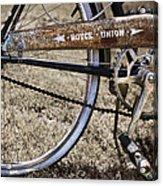 Bicycle Gears Acrylic Print by Debra and Dave Vanderlaan