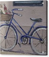Bicycle Leaning On A Wall Acrylic Print