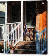 Bicycle On Porch Acrylic Print