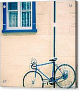 Bicycle On The Streets Of Old Quebec City Acrylic Print