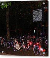 Bicycle Parking In Haarlem Acrylic Print