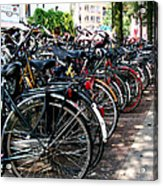 Bicycle Parking Lot Acrylic Print