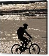 Bicycle Rider Acrylic Print by Arie Arik Chen