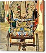 Bicycle Rikshaw - Kumbhla Mela - Allahabad India 2013 Acrylic Print