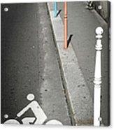 Bicycle Symbol In Paris Acrylic Print