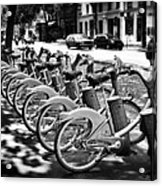Bicycles - Velib Station - Paris Acrylic Print