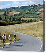 Bicycling In Tuscany Acrylic Print