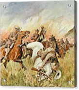 Biddulphsberg A British Cavalry Force Acrylic Print
