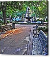 Bienville Square And The Bench 2 Acrylic Print