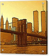 New York City - Big Apple Sunrise Acrylic Print