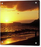 Big Beach Sunset Maui Hawaii Acrylic Print