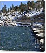 Big Bear Dam - California Acrylic Print