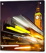 Big Ben And A Bus Trail Acrylic Print