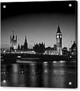 Big Ben And The Houses Of Parliament  Bw Acrylic Print
