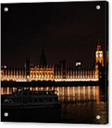 Big Ben And The Houses Of Parliment On The Thames Acrylic Print