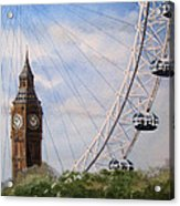 Big Ben And The London Eye Acrylic Print