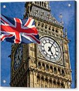 Big Ben And Union Jack Acrylic Print