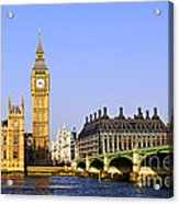 Big Ben And Westminster Bridge Acrylic Print