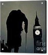 Big Ben And Winston Churchill  Acrylic Print