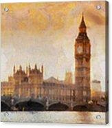 Big Ben At Dusk Acrylic Print