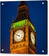 Big Ben At Night Acrylic Print