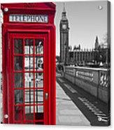 Big Ben Red Telephone Box Acrylic Print
