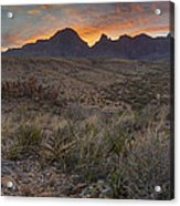 The Window View Of Big Bend National Park At Sunrise Acrylic Print