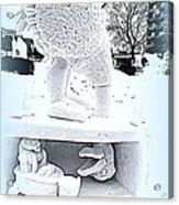 Big Bird Snow Sculpture Acrylic Print