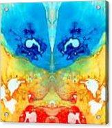 Big Blue Love - Visionary Art By Sharon Cummings Acrylic Print