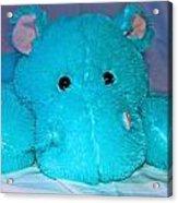 Big Blue Teddy Acrylic Print