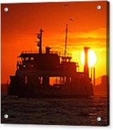 Big Boat At Sunset  Acrylic Print
