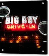 Big Boy Drive-in At Night Acrylic Print