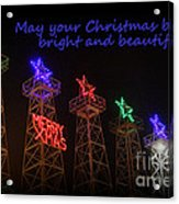 Big Bright Christmas Greeting  Acrylic Print