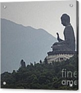 Big Buddha In Hong Kong Acrylic Print