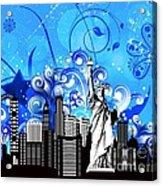 Big City Blues 4 Liberty Acrylic Print