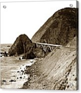 Big Creek Bridge Double Arched Concrete Bridge On Highway 1. About 40 Miles South Of Monterey  1935 Acrylic Print