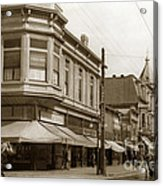 Big Curio Store Santa Cruz At 28 Pacific Avenue On The Corner Of Lincoln And Pacific. 1908 Acrylic Print