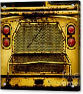 Big Dump Truck Grille Acrylic Print by Amy Cicconi