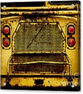 Big Dump Truck Grille Acrylic Print