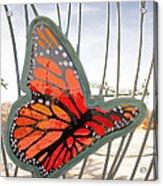 Big Glass Butterfly In Flight Acrylic Print