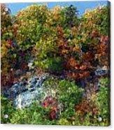 Big Hill Cliffs In Autumn Acrylic Print