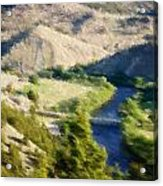 Big Hole River Divide Mt Acrylic Print by Kevin Bone