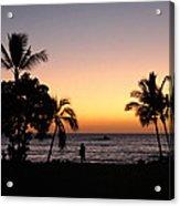 Big Island Hawaii Kona Red Sky Acrylic Print