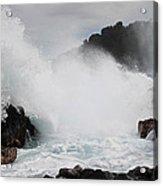 Big Island Hawaii Surge Acrylic Print