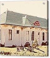 Big L Railroad Station Acrylic Print