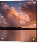 Big Lagoon Sunset Colors Acrylic Print