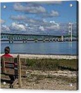 Big Mackinac Bridge 71 Acrylic Print