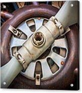 Big Motor Vintage Vintage Aircraft Acrylic Print